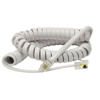 2m 3m 5m 4P4C Coiled Telephone Handset RJ9 Cable Lead Black