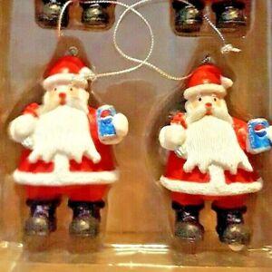 Pepsi Cola Santa Christmas Ornaments Set Of 4 | eBay