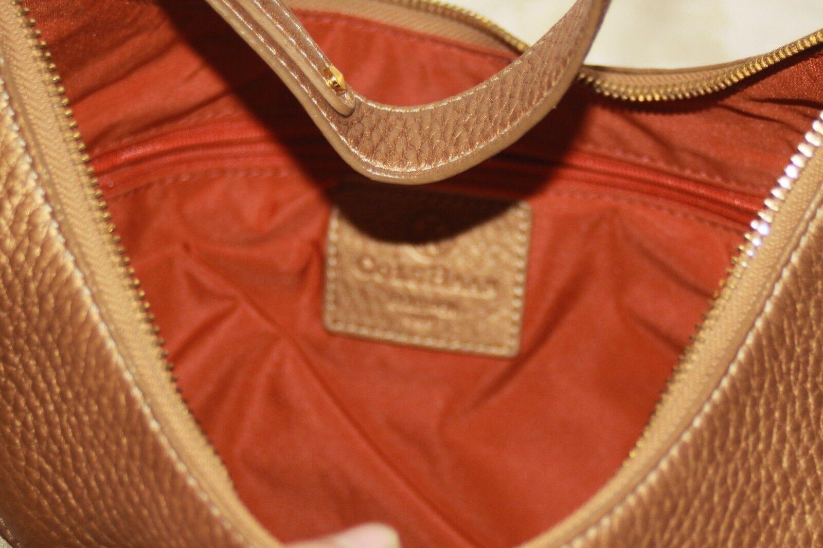 COLE HAAN Gold Fish F05 Large Hobo Handbag Purse … - image 5