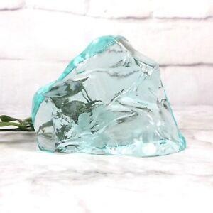 Vintage-Hovmantorp-Torp-R-Strand-Borneson-Sweden-Iceberg-Art-Glass-Paperweight