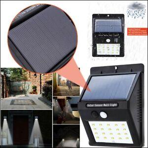 Faretto Faro 20 LED con Pannello Solare Ricaricabile con Sensore di movimento