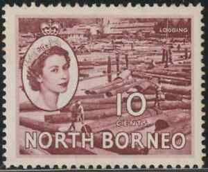 NORTH-BORNEO-1954-QE-II-PICTORIAL-DEFINITIVE-10c-MH