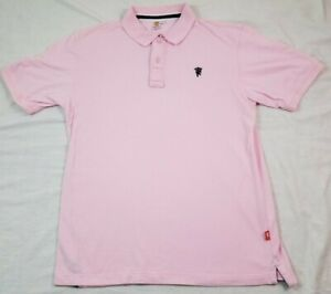 Manchester United Official Mens Polo Shirt Pink Red Devil L Large Uk Soccer Ss Ebay
