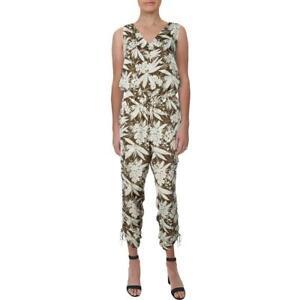 Lauren Ralph Lauren Womens Neila Cargo Ruched Sleeveless Jumpsuit BHFO 8141