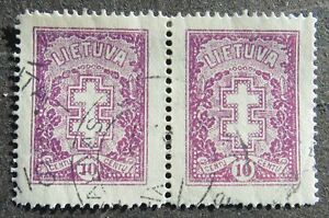Lithuania 1926 10C, Protective Cross, perf. 14 1/4, Mi #271A CV=EUR140 used