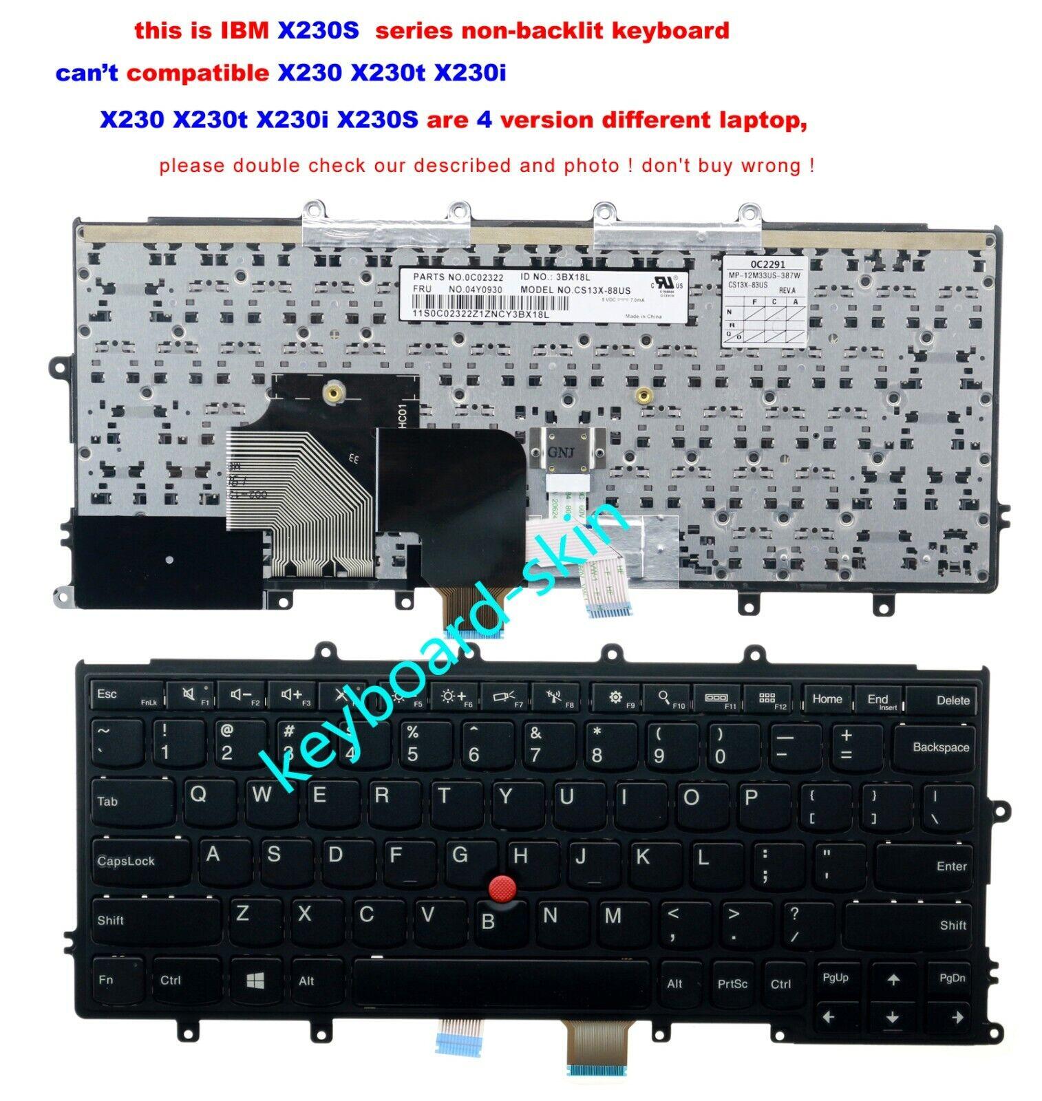 New for lenovo IBM Thinkpad X230S laptop Keyboard--unfit x230 x230t x230i laptop