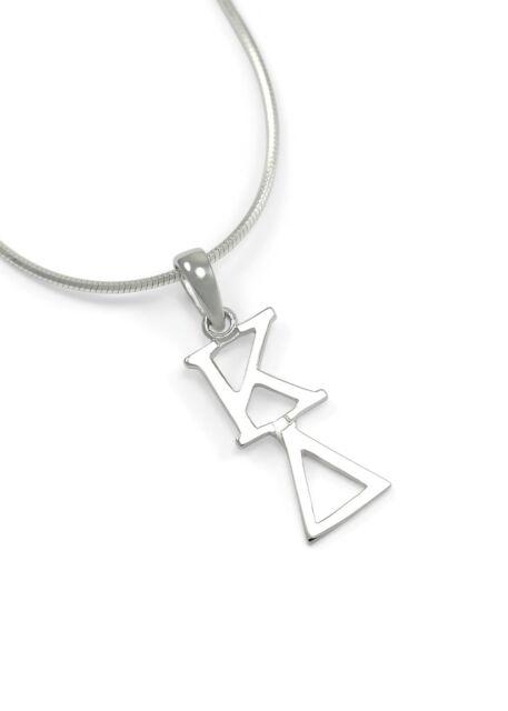Kappa Delta sterling silver lavaliere pendant, NEW!***