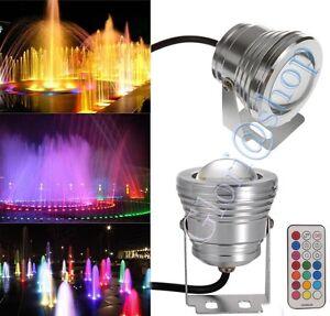 FARETTO-LED-RGB-SUBACQUEO-PISCINA-FONTANA-LAMPADA-A-COLORI-FARO-10W-IMPERMEABILE