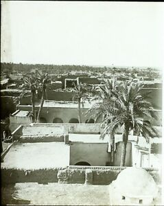 ALGERIE-Sidi-Okba-c1900-Photo-Stereo-Vintage-Plaque-Verre-VR8L3