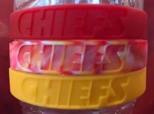 25588662 Details about NFL Kansas City Chiefs Baller Wristbands Bands Bracelets 3  Pack New MAHOMES