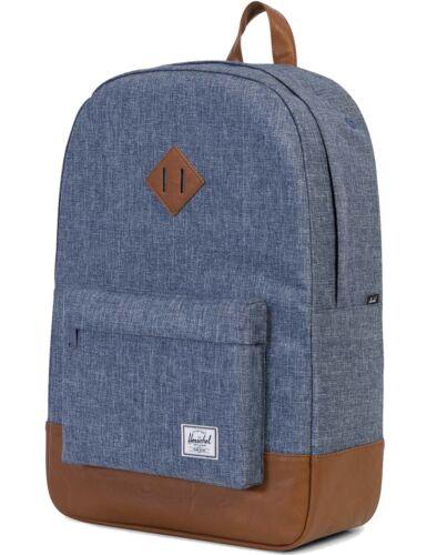 Herschel Rucksack »Heritage« Schulrucksack Laptopfach Backpack Dark Chambray