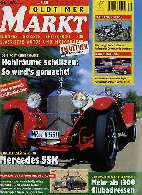 Automobilia Zeitschriften Billiger Preis Oldtimer Markt 1998 10/98 Bimota Sb2 Glas 1300 Gt Mercedes Ssk Norton Commando Modernes Design