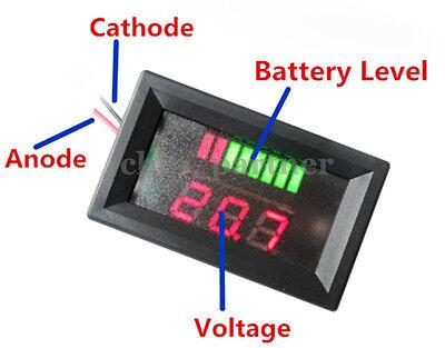 Charge Level Indicator LED Voltmeter 12V Lead-acid Battery Indikator Red 5-15mA