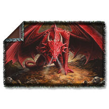 """ANNE STOKES DRAGON'S LAIR THROW BLANKET TAPESTRY 36"""" x 60"""""""