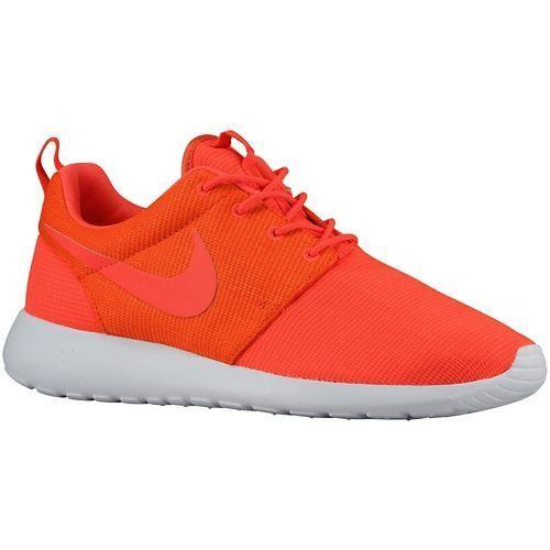 511881-663 Men's Nike Roshe Run Bright Crimson/Team Orange Authentic 100%