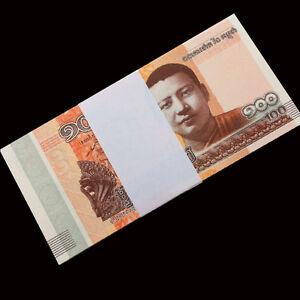 Full-Bundle-100-PCS-Cambodia-100-Riels-2014-2015-P-New-UNC-Lot-Pack