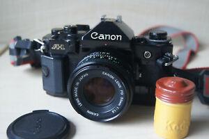 Canon A-1 Film Camera & Canon FD 50mm F1.8 Lens