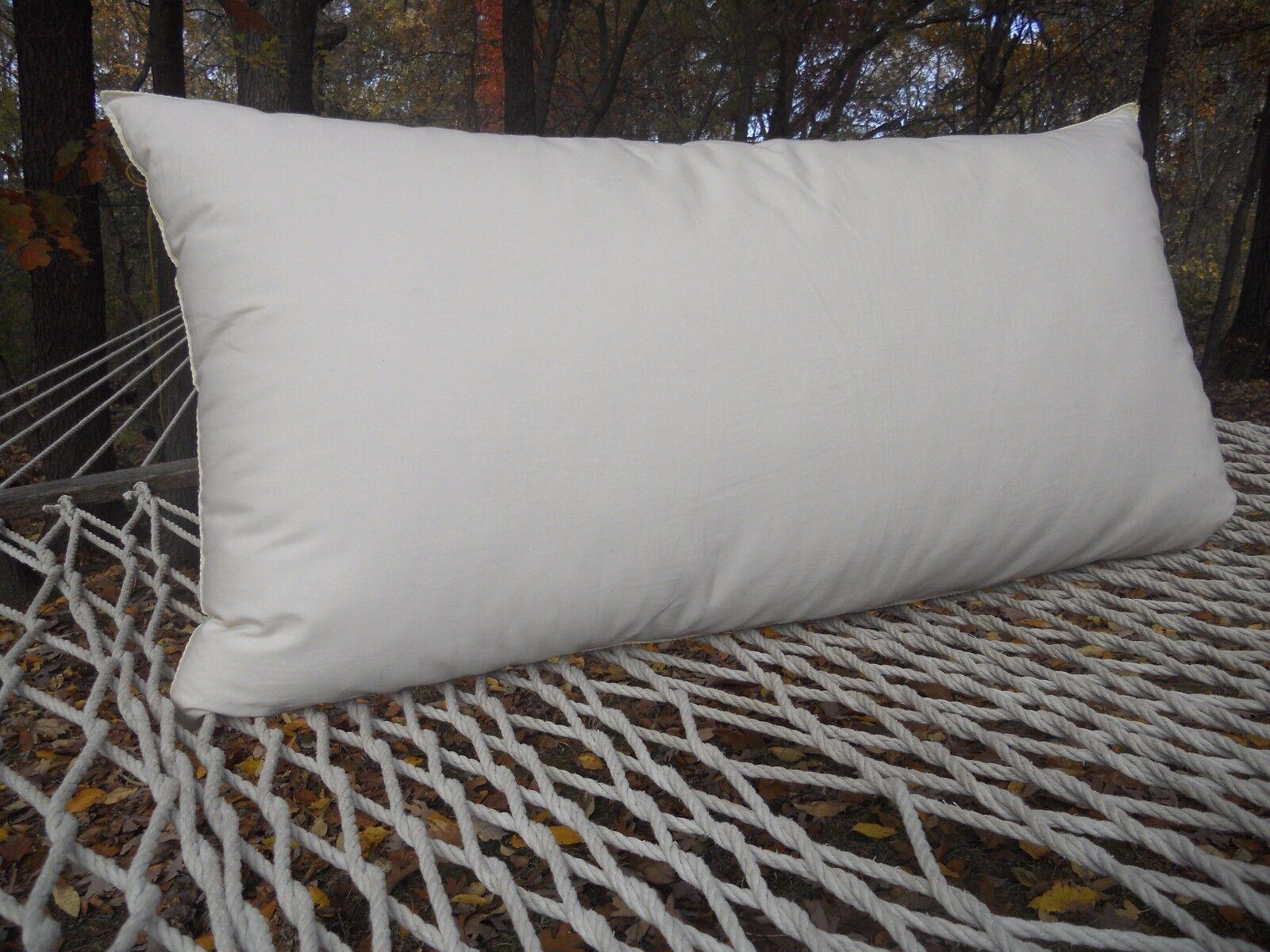 Natural Kapok Pillow w  Organic Cotton Startseiteing - Hypoallergenic Vegan König