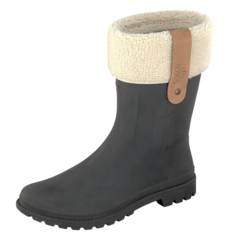 Gosch zapatos Sylt-señora botas de de de goma Mar Báltico negro mate-made in EU-botas  buen precio
