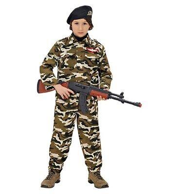 Fiducioso Soldato Soldier Faschingsköstüm Costume, Ragazzi, Dimensioni 116 Cm, 4-5 Anni
