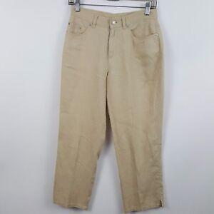 Ralph-Lauren-Linen-Petite-Straight-Leg-Women-039-s-Casual-Pants-Sz-4P-28-x-25