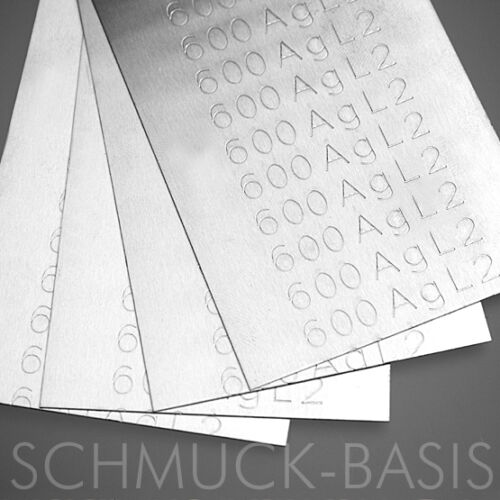 als Blech für Juweliere;  60/% Ag; cd-frei 5 Gramm Silberlot mittel; 715 Grad
