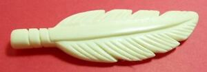 10-piece-Bone-Horn-Pendant-FEATHER-Carved-2-5-inch-BP908