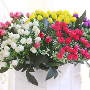 36-Heads-Peony-Hydrangeas-Silk-Flower-White-Wedding-Decor-Bridesmaid-Bouquet-TS