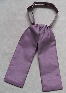 Fougueux Mariage Cravate Garçons Réglable Ascot Cravate Âge 4 - 12 Prune Crêpe-afficher Le Titre D'origine PréParer L'Ensemble Du SystèMe Et Le Renforcer