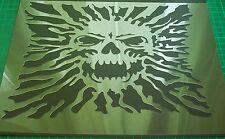 Nr.S18 A4 alta aerógrafo de plantilla cráneo Zombies plantilla pasos Pintura Artesanía 240mic