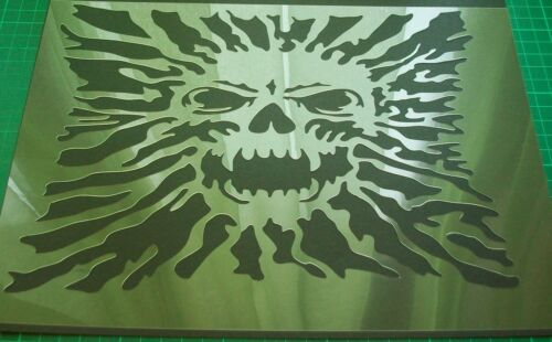 nr.S18 A4 High Airbrush Stencil Skull Zombies Template Steps Paint Craft  240mic