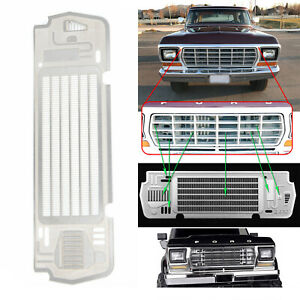 Metal-Steel-Radiator-Grill-Plate-For-TRX-4-BRONCO-1-10-RC-Car-Auto-Accessories