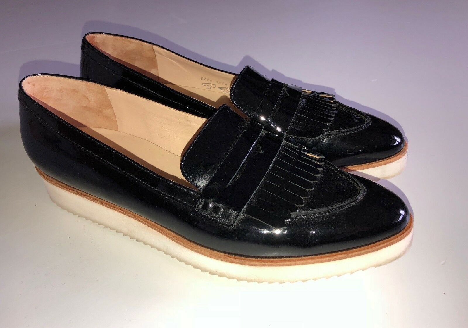 ❤ ❤ Högl Scarpe loafer 7 slipper vernice nero mis. 7 loafer 41 ❤ a67463
