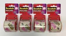 Set Of 4 Scotch Mailing Packaging Tape Dispenser Ultra Clear 188 X 800 Inch