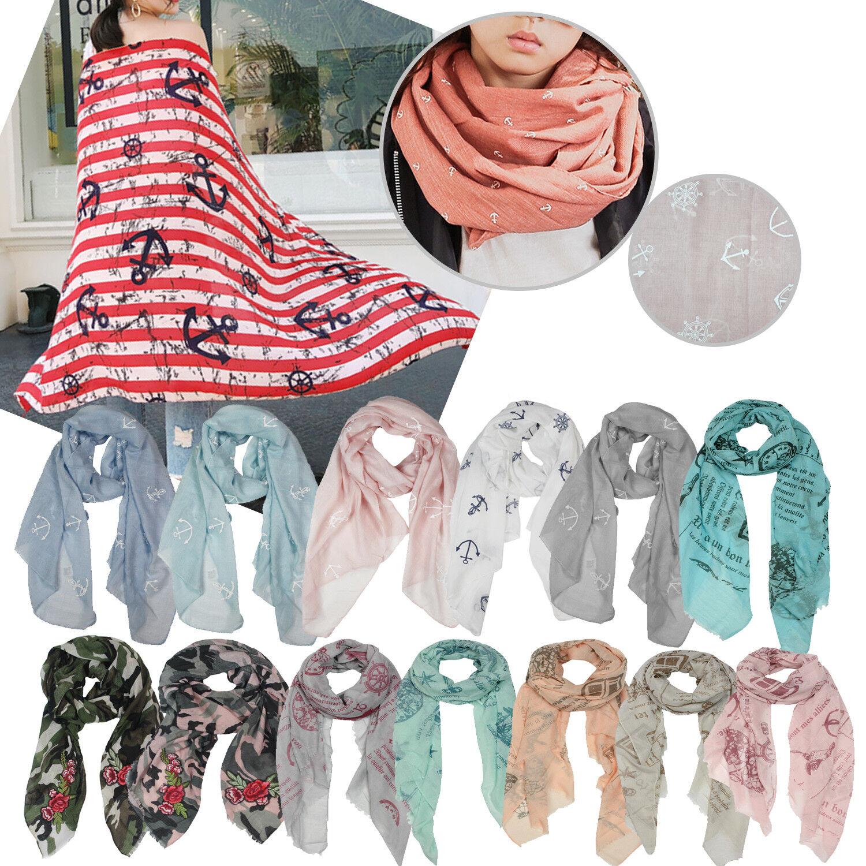 Glamexx 24 SEÑORA bufanda PAÑUELO pañuelo anclaje unicornio patrón camuflaje estola
