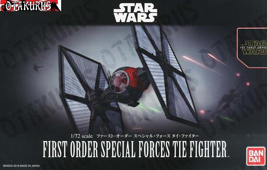 First Order Special Forces Tie Fighter Star Wars 1 72 Model Bandai