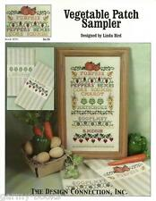 Vegetable Patch Sampler Linda Bird Design Connection Cross Stitch Pattern NEW