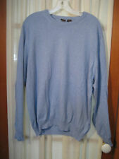 SAKS FIFTH AVENUE Blue Cashmere Blend Crew Neck Sweater Size Large