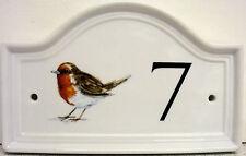Pettirosso Numero Di Porta Di Casa Placca Porcellana Uccellino Insegna Per Porta