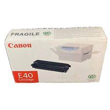 OEM Genuine Black Toner Print Cartridge Seal 1491A002 CA NEW CANON E40 1491A002