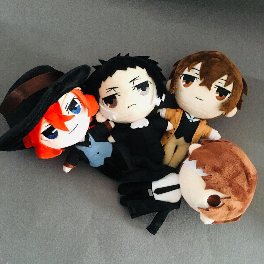 Anime Stray Dogs Osamu Dazai Nakahara Chuuya Plush Doll Soft Stuffed Toys New