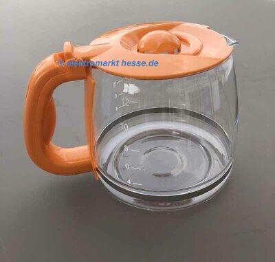 Russell Hobbs 168370,24001013006 Glaskanne für Hot Orange Deco Kaffeemaschine