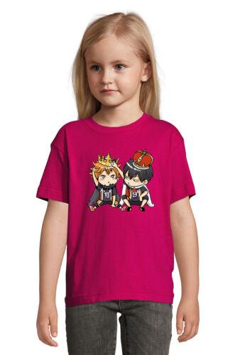 Haikyuu Hinata And Kageyama Chibi Kings Art Quality T Shirt Unisex Kid/'s
