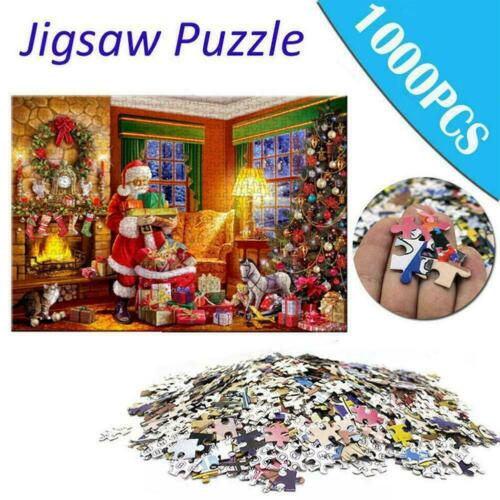 Puzzle Merry Christmas Large Jigsaw 1000 Piece Educational A Gift For Kids K0K7