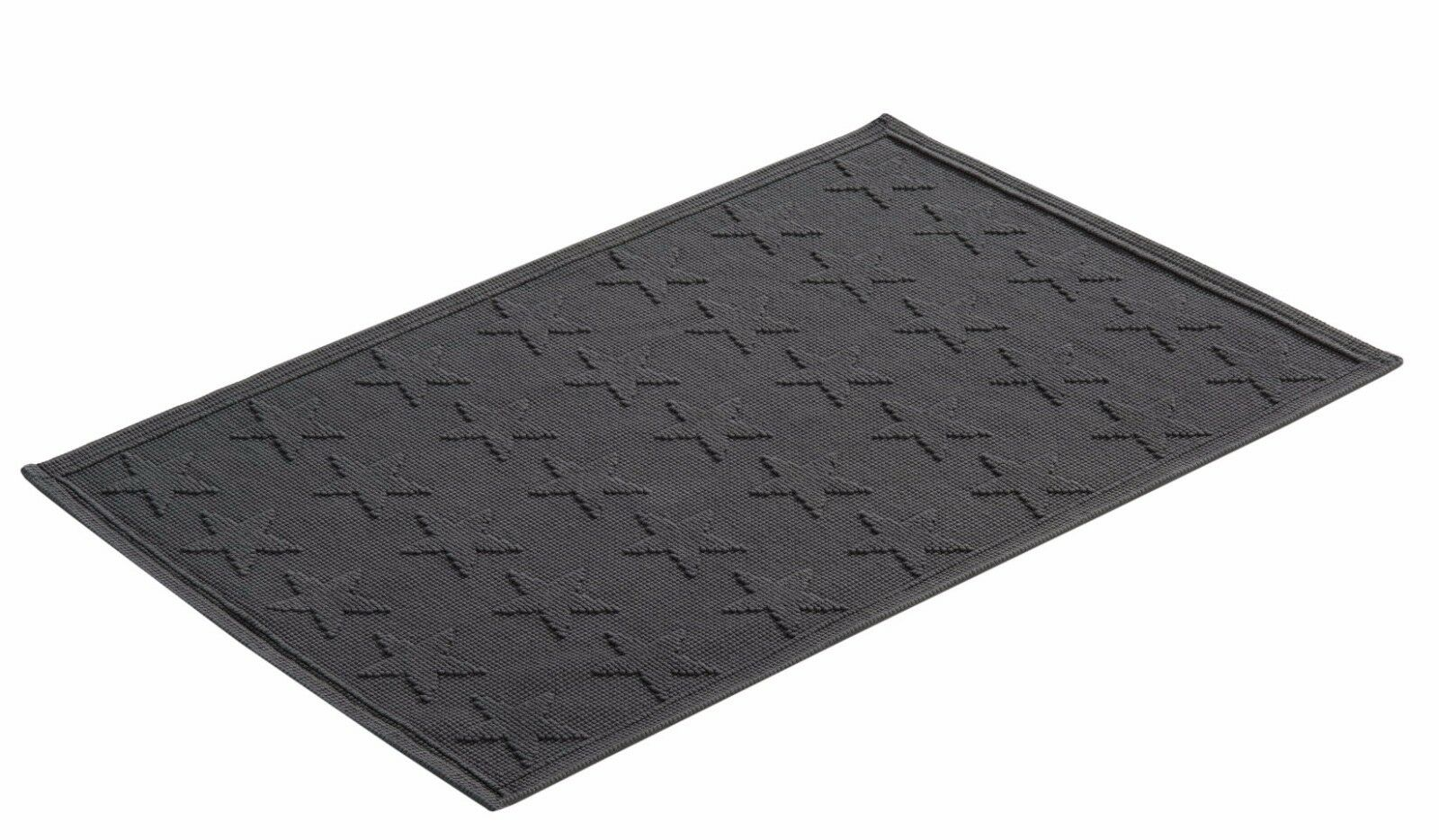 Vossen Badematte Badteppich flanell oder light grau grau mit Sternen 60x90cm   | eine große Vielfalt
