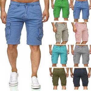 Mens-Multi-Pocket-Cargo-Shorts-Combat-Chino-Half-Pants-100-Cotton-Work-30-46