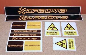 DABOMB Mountain Bicycle Frame Decal Sticker Graphic Set Adhesive Vinyl Black