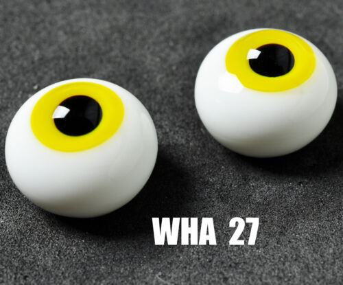 New 16mm Yellow Glass Round BJD Eyes for MSD DOD DZ AOD Volks Dollfie Outfits