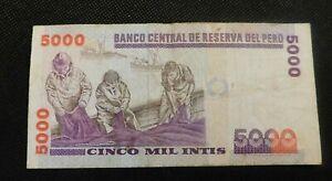 1988 BANCO CENTRAL DE RESERVA DEL PERU CINCO MIL INTIS!   e570XXX