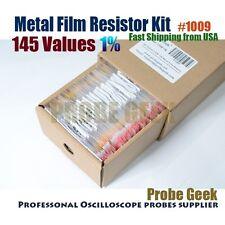 145  Values Total 1450pcs 1% 1/4W Metal Film Resistor Assortment Box Kit #1009